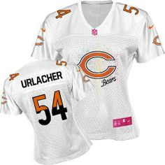 $109.99 Women's Nike Chicago Bears #54 Brian Urlacher Elite Fem Fan White Jersey