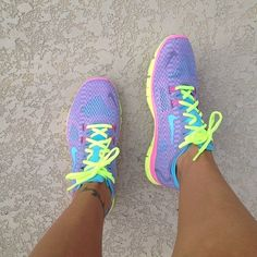 Neon Nike Running Shoes