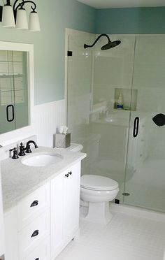 Master Bathroom  -Tile Flooring  -Frameless Shower  -New Fixtures  -Custom Cabinets  -Granite Countertop  -Double Bowl Sinks  -Bead Board on Walls  -Plumbing & Electrical