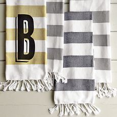 would love these in the guest bathroom  west elm $10 monogram hand towel