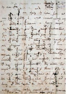 Cross-writing by Charles Darwin