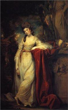 1773 Joshua Reynolds. Portrait of Mrs. Abington, British Actress