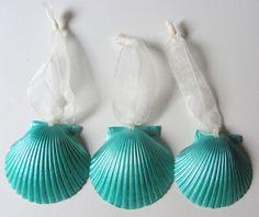 mermaid shell ornaments