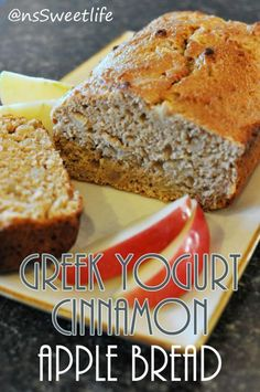 Greek yogurt apple bread