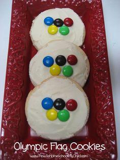 Olympic flag cookies   HowToHomeschoolMyChild.com