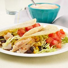 Fish Tacos with Chipotle-Lime Sauce