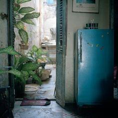 Cuban kitchen #rustic #Cuban #blue