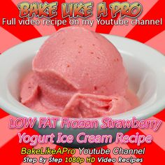 LOW Fat Frozen Strawberry Yogurt Ice Cream Recipe Please SUBSCRIBE: ► bit.ly/1ucapVH Only 3 Ingredients ! Frozen strawberries, yogurt, and a bit of sugar. That's it ! I'll show you how to make an amazing ice cream that you will fall in love with ! ... and it's LOW FAT ! Super easy to make, and takes seconds ! ► My Facebook Page: www.facebook.com/... #LOWFAT #LOW-FAT #recipe #recipeshare #frozen #frozenyogurt #icecream