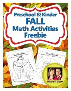 Preschool & Kindergarten Common Core Math FREEBIE - Activities