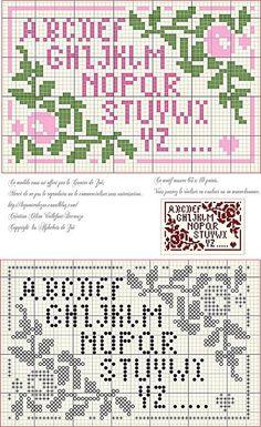 cross stitch alphabet sampler mini