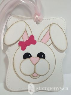 www.stampenvy.ca, stampin up, punch art, bunny, easter