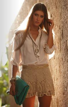 #camisa #saia #sainha #cinto