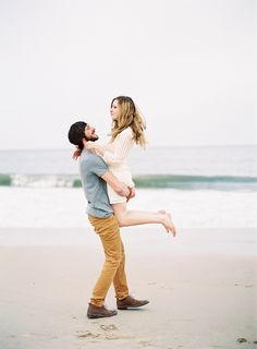 beach engagement session, photo by Michael and Carina Photography http://ruffledblog.com/cape-henlopen-engagement-session #engagementsession #engagementshoot