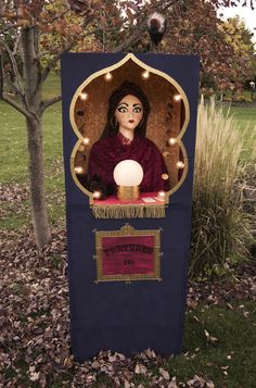 DIY Fortune Teller Booth Halloween Craft