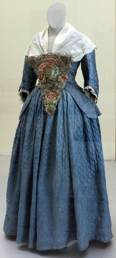 Jacket and Skirt: 1760, Germanic National Museum in Nuremberg. (Quilted)