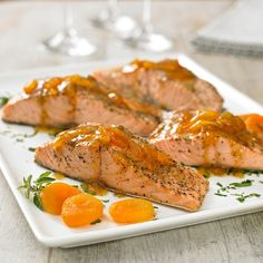 Apricot & Country Mustard Salmon -    The liquid in the bottom of the pot keeps the salmon moist and flavorful. This dish has amazing flavor and it's surprisingly easy to make — with ingredients right from your pantry.