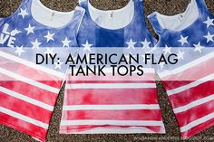 diy american flag tank tops, perfect for 4th of July celebrations   Wild  Wanderful blog