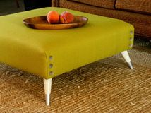 Get the step-by-step instructions for upholstering your own mod living room centerpiece