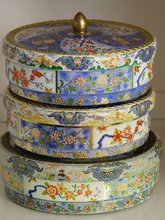 Vintage tins from Albert Heijn