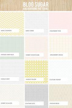 Blog Sugar Patterns | Dear Miss Modern