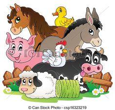 free clip art farm animals - Google Search