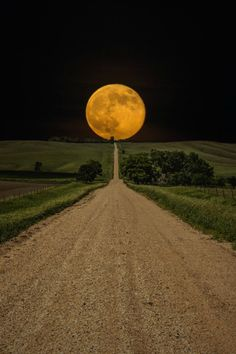 Road to Nowhere - Supermoon by Aaron J. Groen