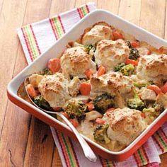 Alfredo Chicken'n Biscuits Recipe
