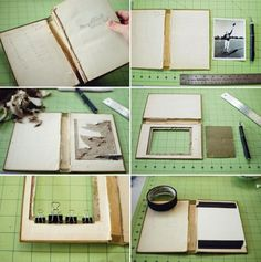 DIY book picture frame - might do this for my dad