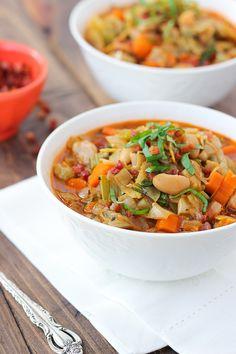 White Bean, Artichoke & Vegetable Soup {Gluten-Free, Dairy-Free} | Meaningful Eats