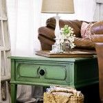End table DIY from the 36th Ave. Love the green!
