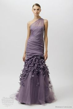 a purple dress from the Monique Lhuillier 2012 resort collection. love the floral applique. by brianna