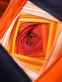 Iris Folding with Bias Strips Tutorial.