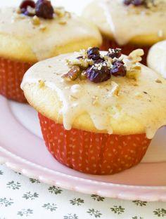 Egg Nog-Cranberry Muffins