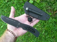 Tops USA Jensen Survival Tool Knife Fire Starter Paracord