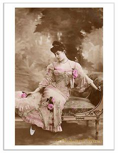 LADY ON A CHAISE Vintage Postcard Image Photo Greeting Card Or Print LE100