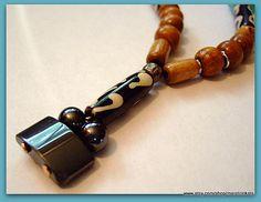 African Bone & Hematite Necklace by MereTrinkets, $24.00