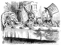"""""""But I don't want to go among mad people,"""" Alice remarked.  """"Oh, you can't help that,"""" said the Cat: """"we're all mad here. I'm mad. You're mad.""""  """"How do you know I'm mad?"""" said Alice.  """"You must be,"""" said the Cat, """"or you wouldn't have come here."""""""