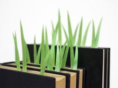 grass blade bookmarks (clever!)