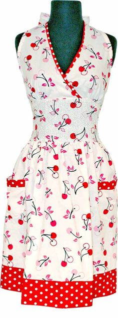 Adorable apron... cherries and dots!