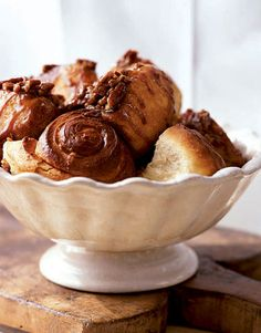 Sounds so delicious: Cinnamon-Pecan Sticky Buns with a spiced sour-cream filling.
