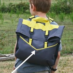 Backpack Back to School this fall with this amazing DIY backpack pattern. This professional and sturdy bag will be the envy of all the other kids in the classroom when you make it for your boy or girl.