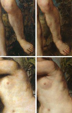 Diferencia nº 6 entre el original de Tiziano y la copia de Rubens: LA CELULITIS Del post http://harteconhache.blogspot.com.es/2013/07/las-siete-diferencias-entre-tiziano-y.html