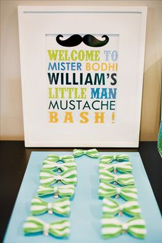 Love this idea for a boy party! -bowties