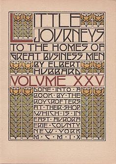 Roycroft design: Little Journeys cover