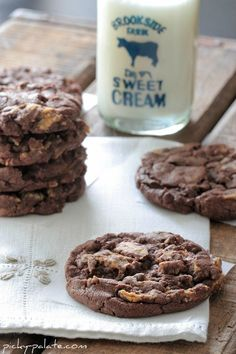 Peanut butter cup chocolate cookie