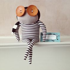 New Ruby Ruth Dolls! - Clive is currently building a spaceship in his garden and is planning on visiting the moon when its finished. £31.50 http://www.arteideas.co.uk/ruby-ruth/832-clive-ruby-ruth-dolls.html #gifts #locallysourced #recycled #handmade