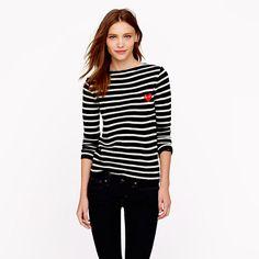 sweaters, fashion, des garçon, crew, play comm, stripe sweater, stripes, comm des, comme des garcons play