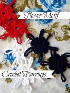Free #crochet earrings pattern from Little Treasures