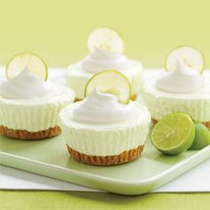 mini no-bake key lime pies