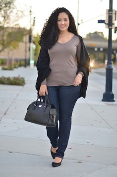 cute as a button in this plus size outfit